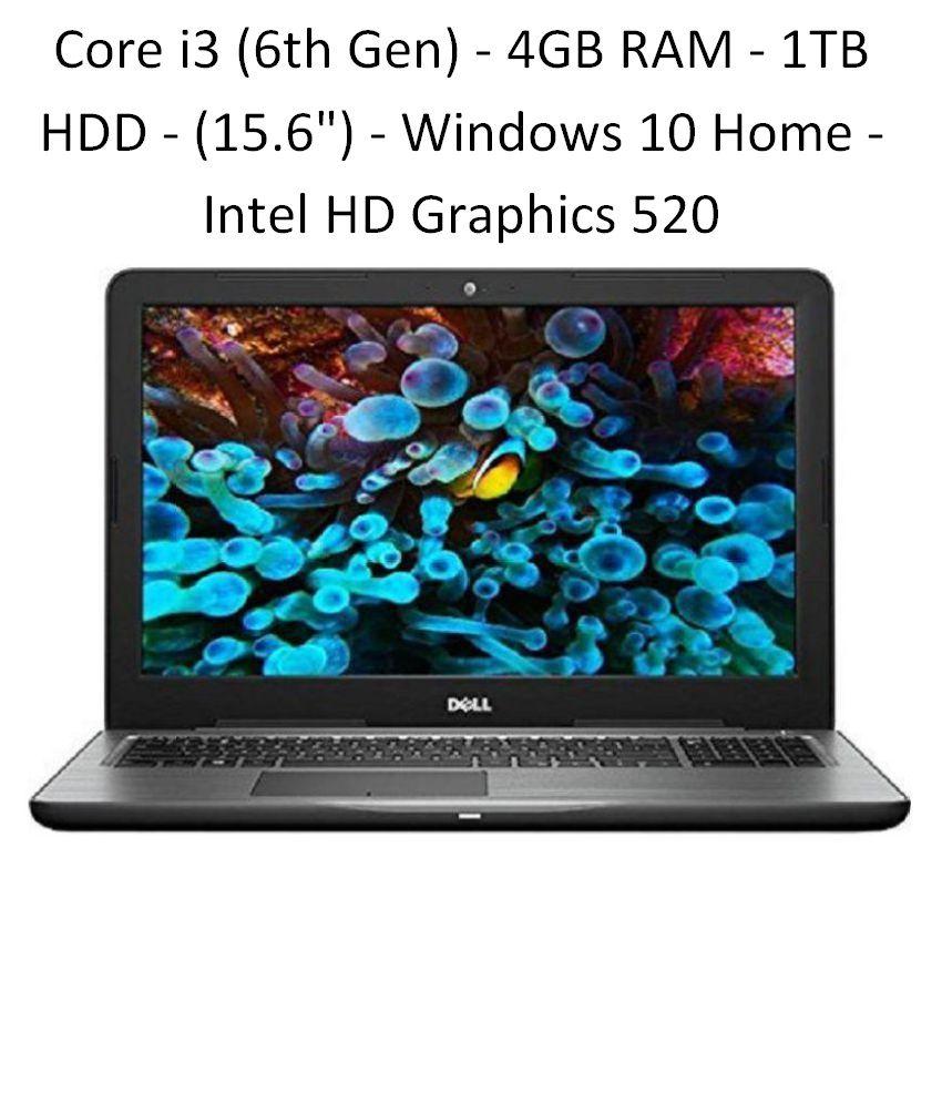 Dell Inspiron 5567 - Core i3 (6th Gen) - 4GB RAM - 1TB HDD - 39.62cm(15.6