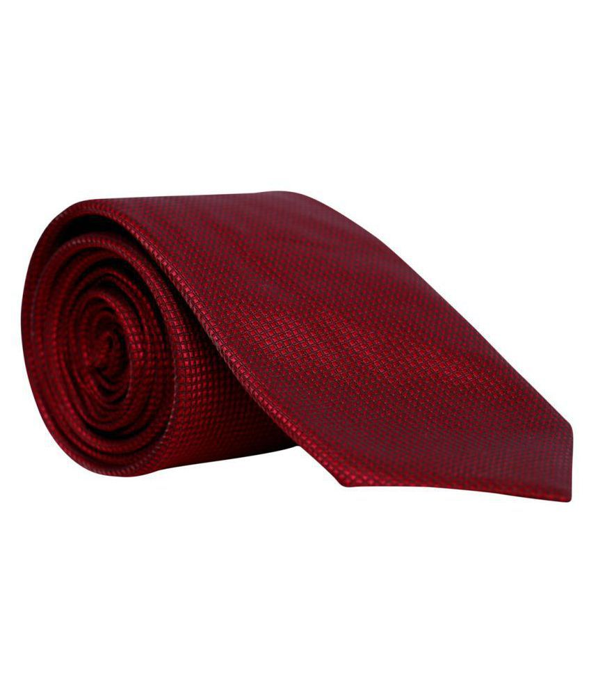 Molessi Red Checks Polyester Necktie