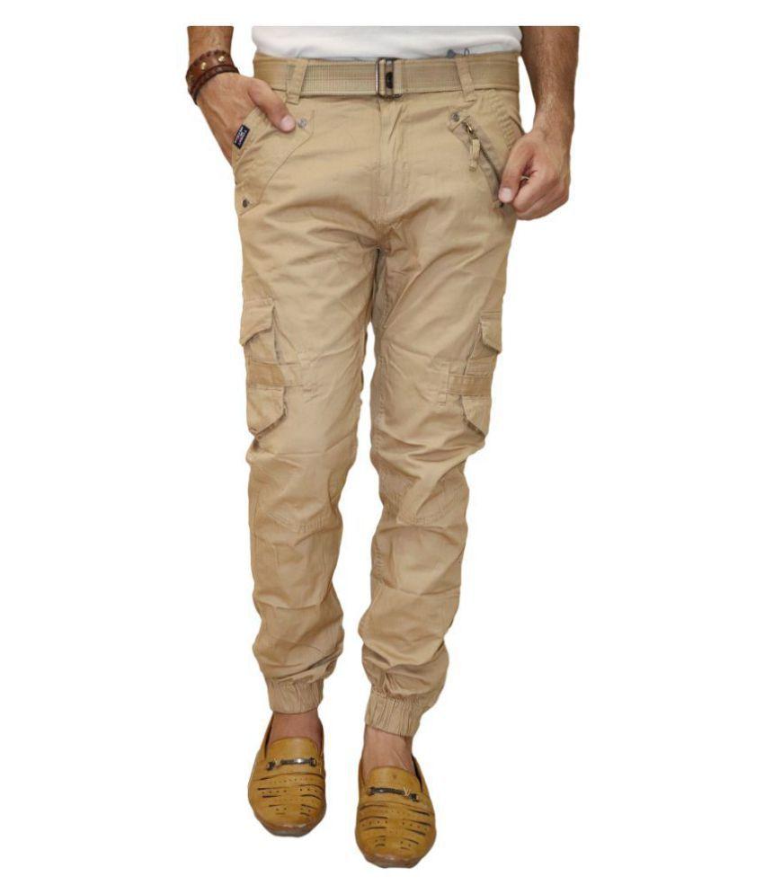 DREAM VISION Beige Regular Fit Jeans