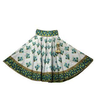 Mira Creation Silk Circle Skirt - Multi Color