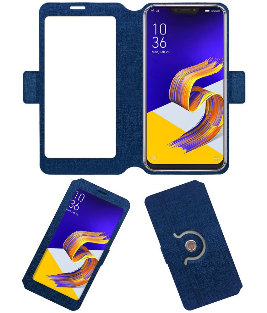 Asus Zenfone 5 2018 Flip Cover by ACM - Blue NA