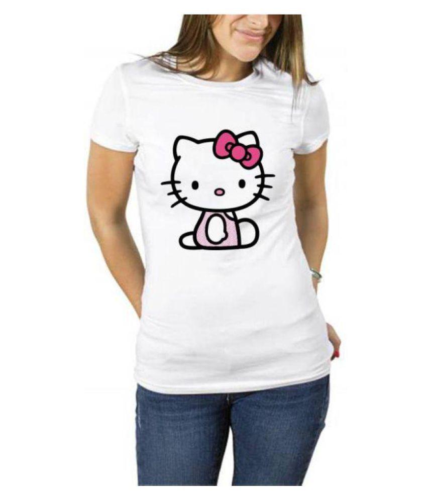 Rainbow White Round T-Shirt