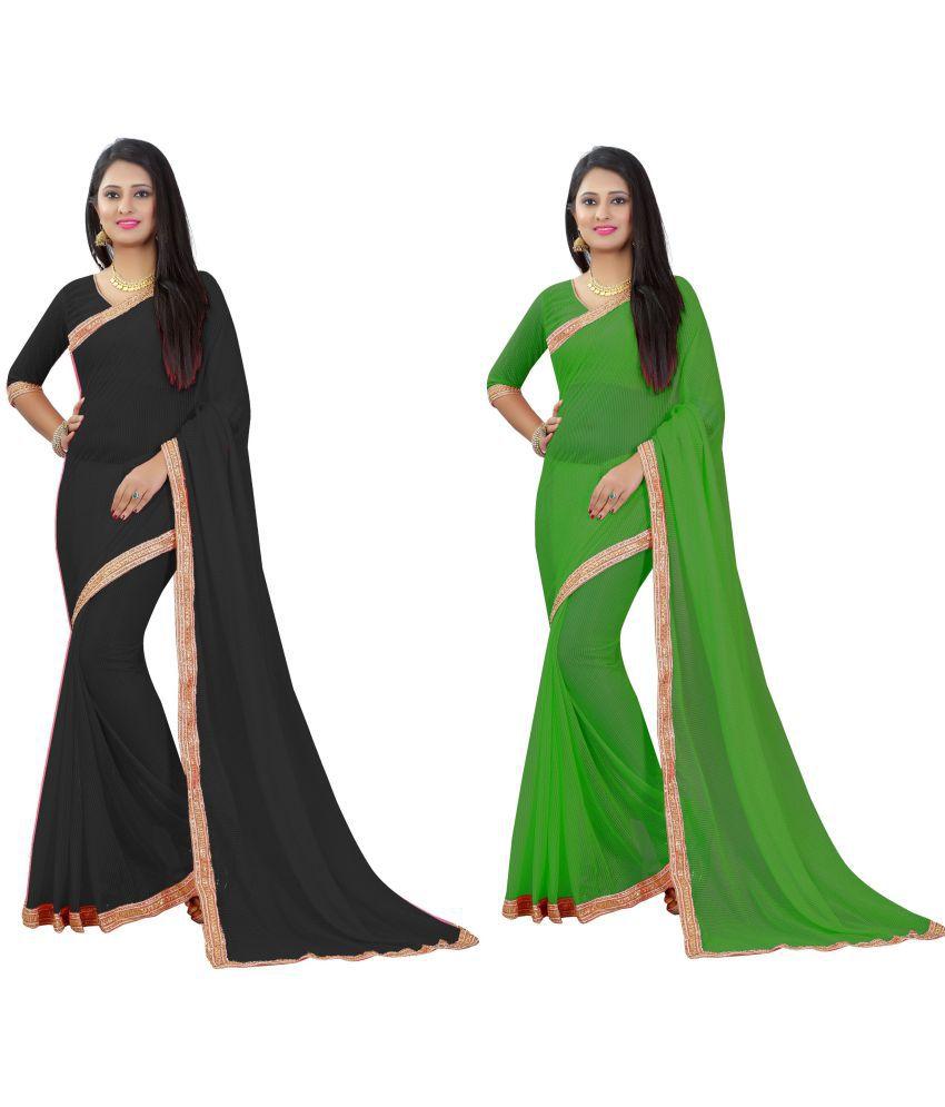 Beelee Typs Multicoloured Matka Silk Saree Combos