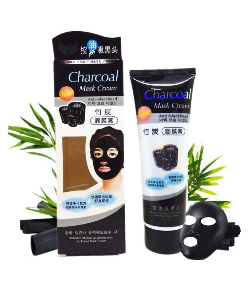 22K Charcoal Anti-blackhead Mask Cream Cleanser 130 gm Pack of 2