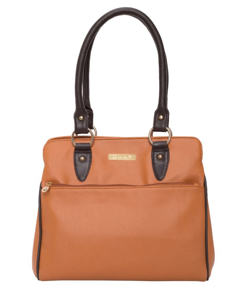 Beloved Tan Faux Leather Shoulder Bag