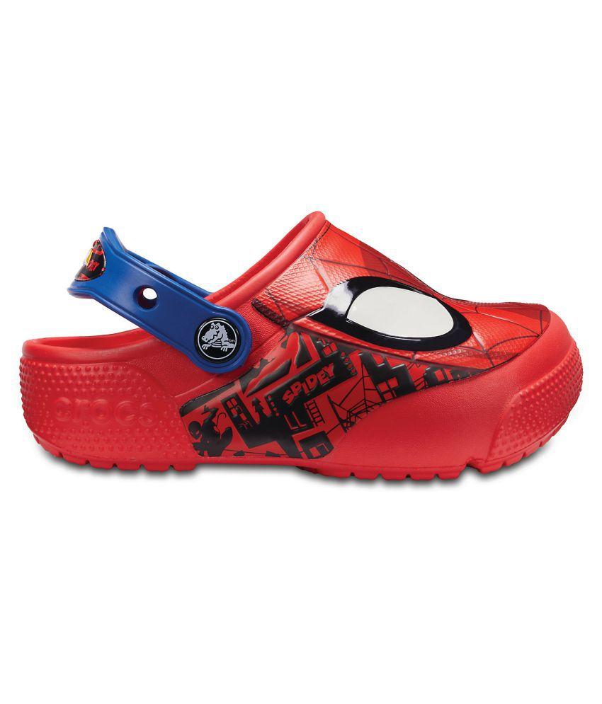 Crocs FL SpiderMan Light Red Boys Clog