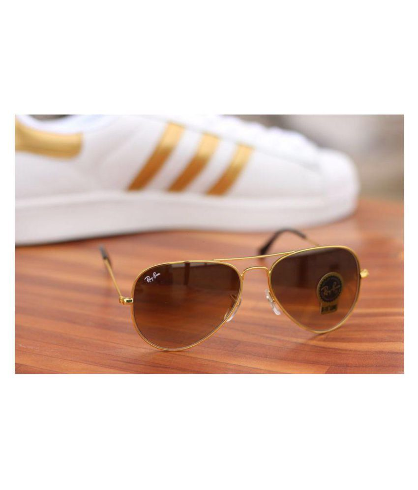 Fashion Brown Aviator Sunglasses ( 3026 brown shed golden )