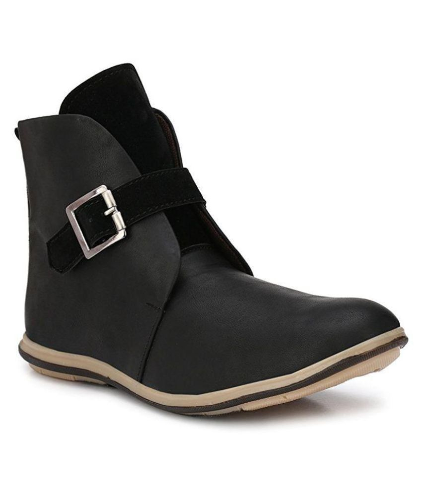 ZebX Black Casual Boot