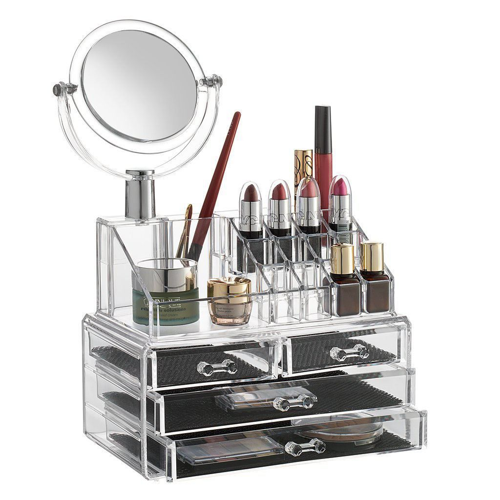 Acrylic Cosmetic Dressing Table Organizer With 3 Drawer