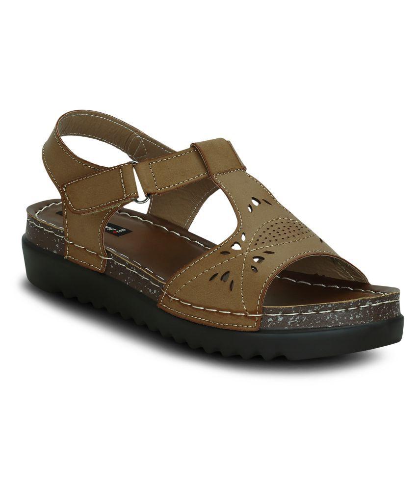 Get Glamr Khaki Wedges Heels