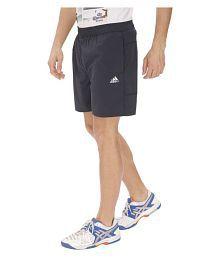 Adidas Black Polyester Lycra Running Shorts