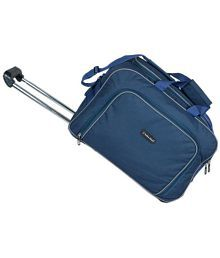 Indian Riders Blue Large Travel Trolley Duffle Bag With Wheel- 24 Inch