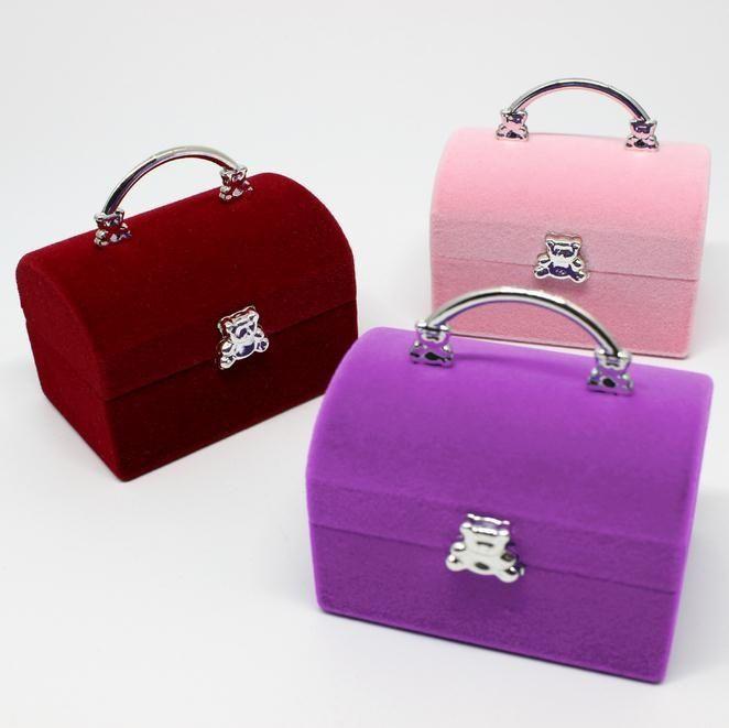 Basic Design Handbag Shape Jewelry Ring Display Case Jewelry Ring Necklace Storage Boxes
