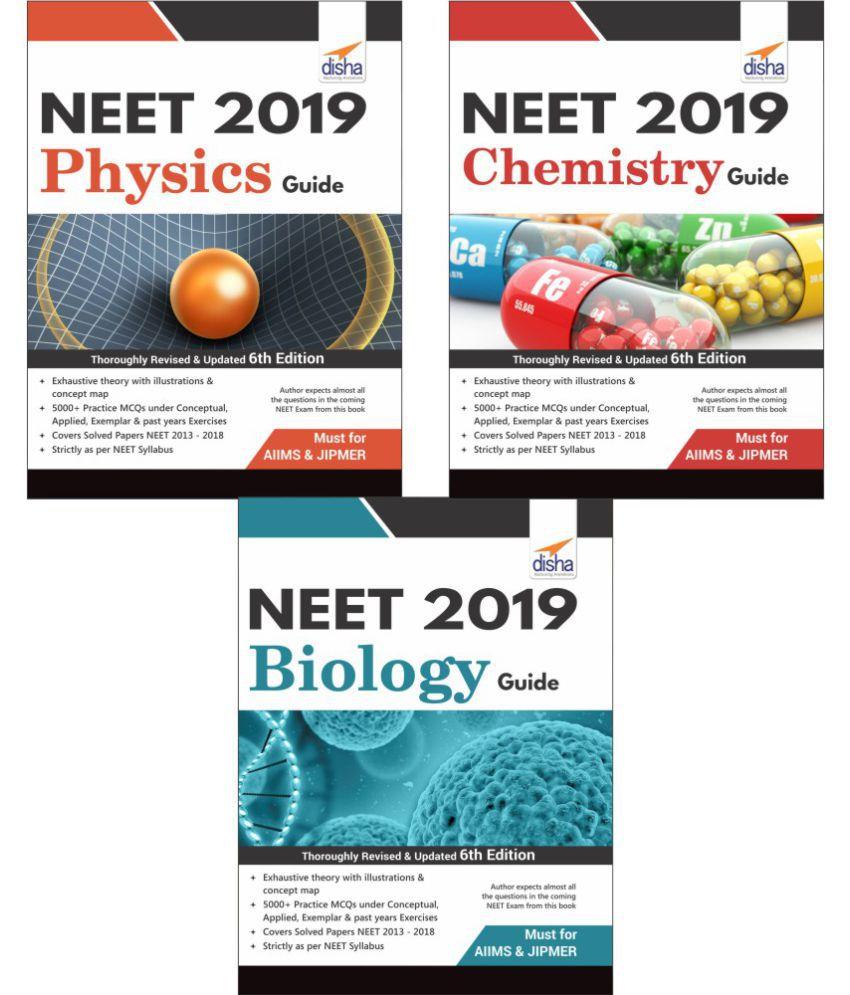 Crack NEET 2019 Physics Chemistry Biology Set Of 3 Books