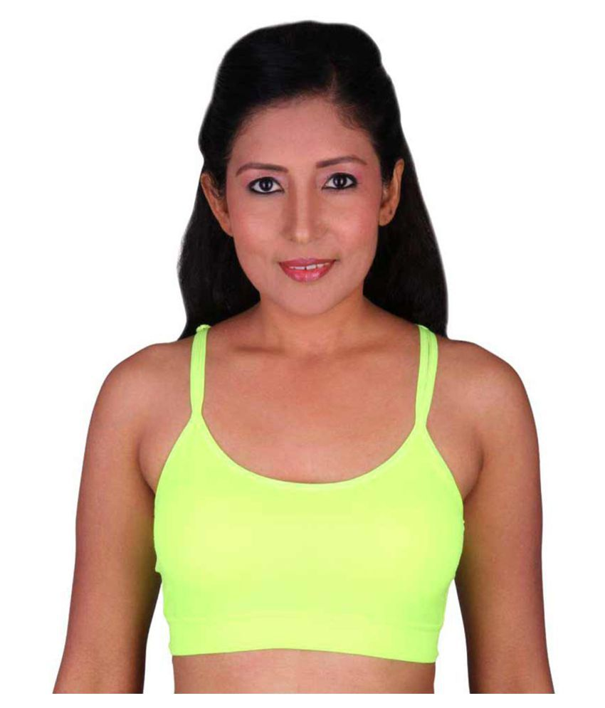F 4 FASHION Cotton Lycra T-Shirt Bra - Green