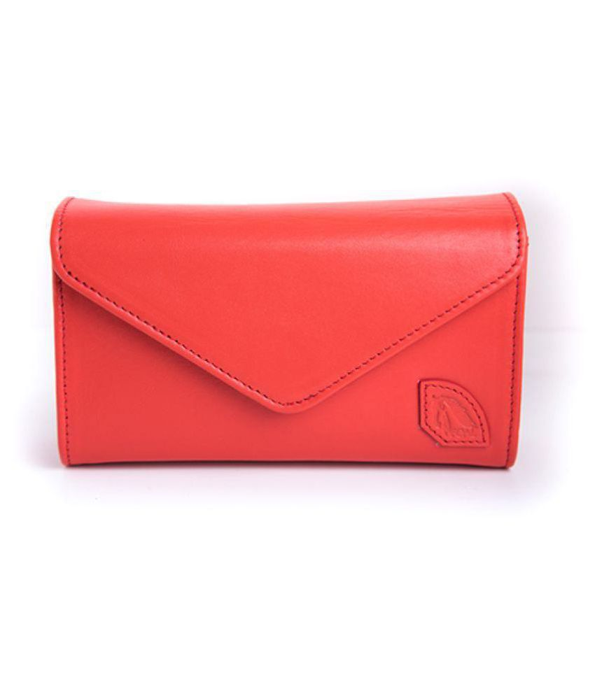 Foal Pink Pure Leather Box Clutch