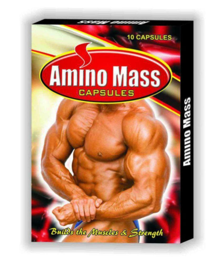 G & G Amino Mass Capsule 10 no.s Weight Gainer Tablets Pack of 3