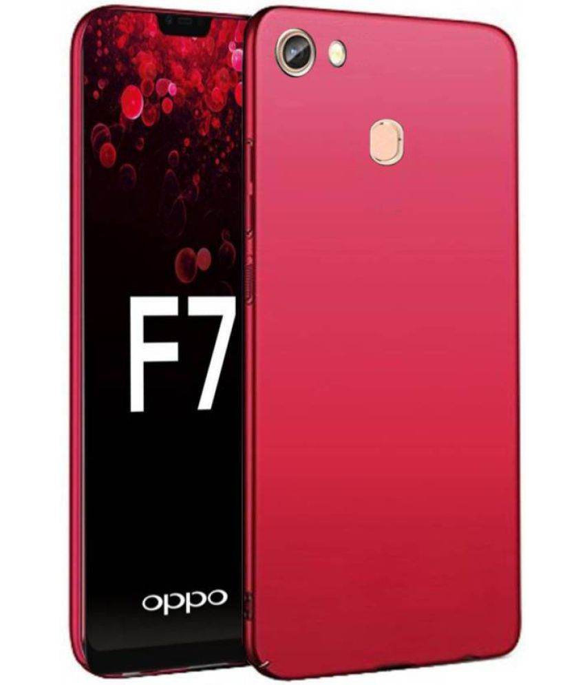 low priced 30c7c edaa9 Oppo F7 Plain Protective Ultra Thin Cases Tidel - Red