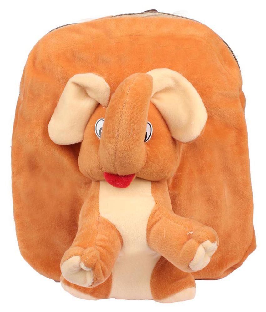 Aliado Brown Fabric Backpack