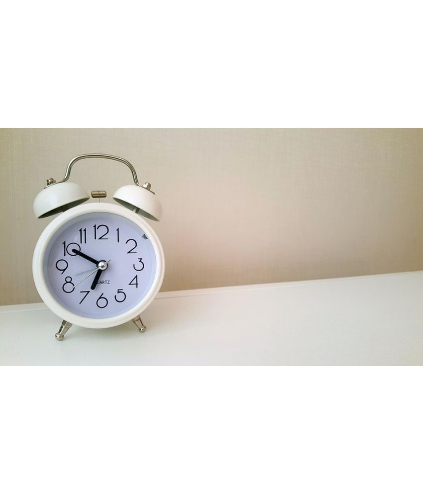 Avikalp Alarm Clock Timepiece Analog Time Paper Wall Poster Without Frame