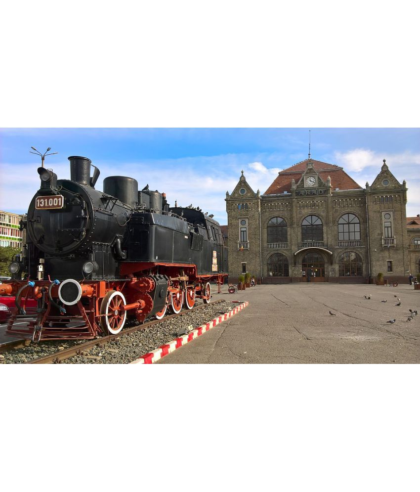 Avikalp Arad Castle Steam Locomotive Palace Architecture Paper Wall Poster Without Frame