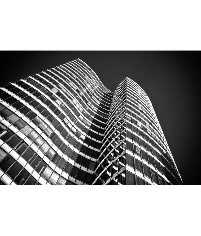 Avikalp Architecture Skyscraper Building City Office Paper Wall Poster Without Frame