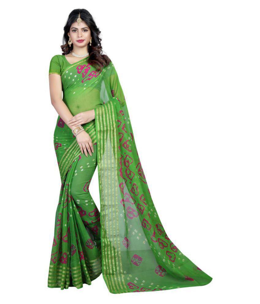 Wedding Villa Green Tussar Silk Saree