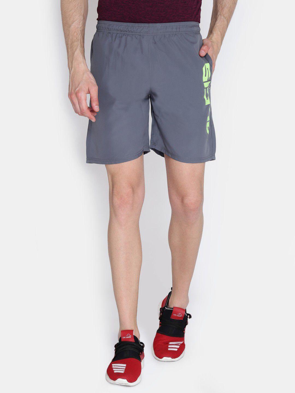Alcis Mens Printed Grey Shorts