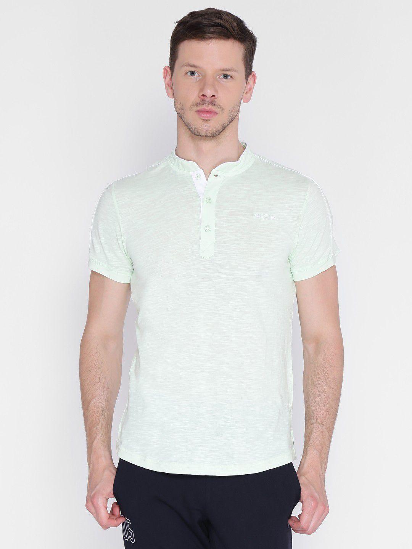 Alcis Mens Printed Grey Yoga T-Shirt