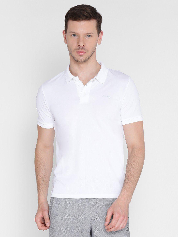 Alcis Mens Solid White Polo T-Shirt