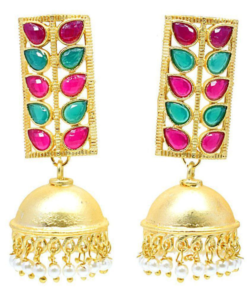 f1e396ad3 Gold Plated Jhumka Jhumki Earring With Different Colors Available For Women  & Girls - Buy Gold Plated Jhumka Jhumki Earring With Different Colors  Available ...