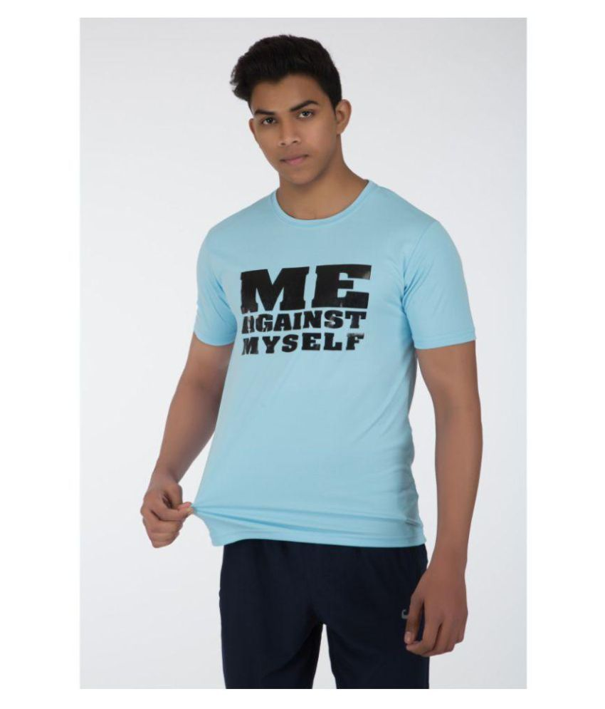 Klothoflex Sky Blue Printed Tshirt