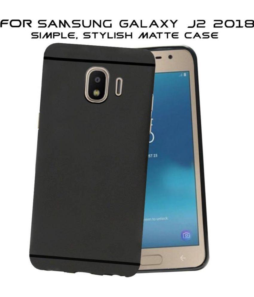 Samsung Galaxy J2 2018 Soft Silicon Cases Hopsack - Black