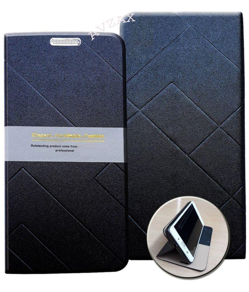 Vivo V7 Flip Cover by Avzax - Black