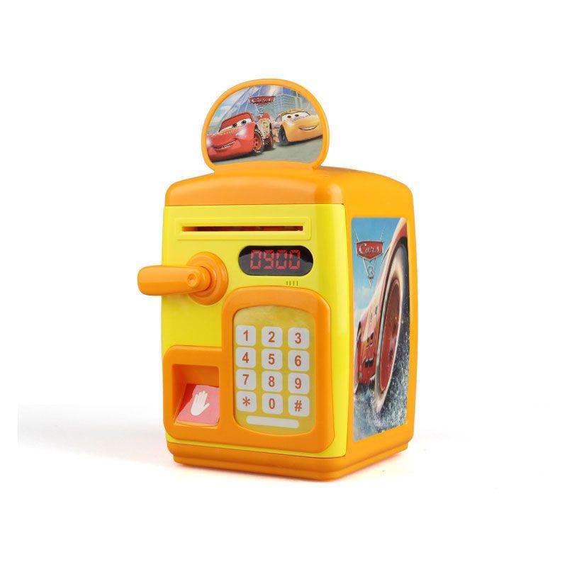 Fingerprint Sensing Money Saving Bank Toy - Yellow