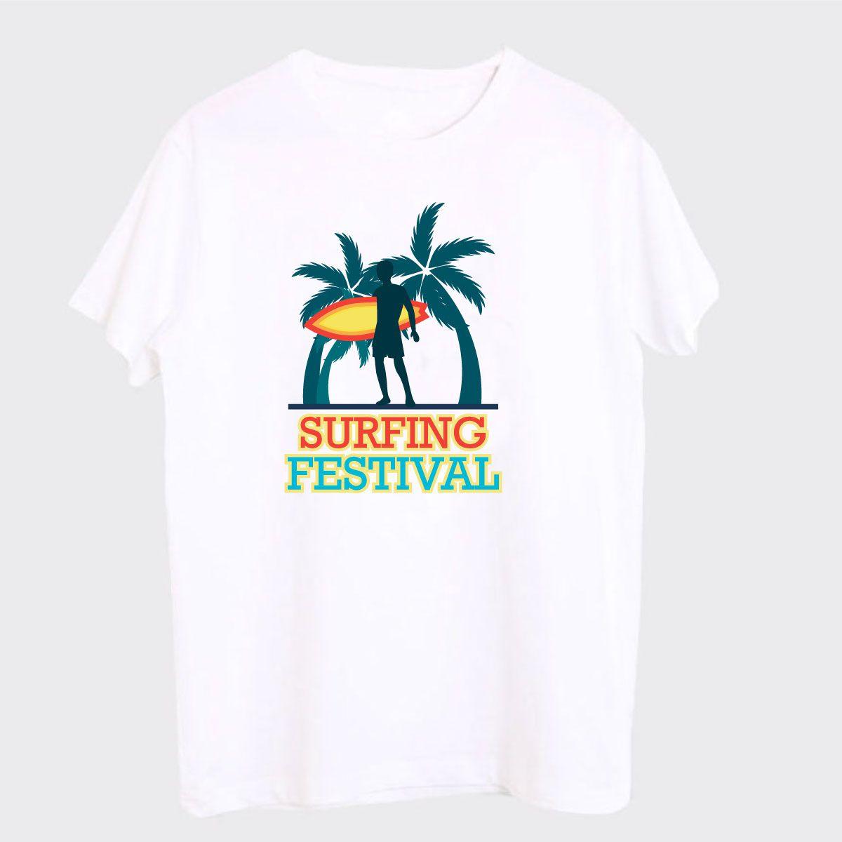 DINKCART White Round T-Shirt Pack of 1