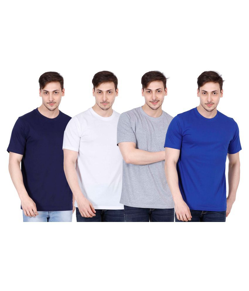 OJASS Multi Round T-Shirt Pack of 4