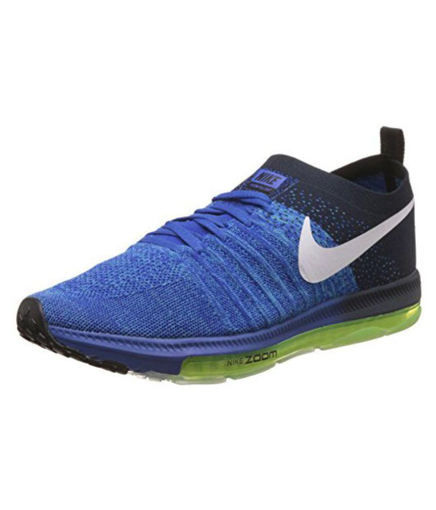 Nike 1 zoom Allout Running Shoes Blue  Buy Online at Best Price on Snapdeal 8643bb4ec