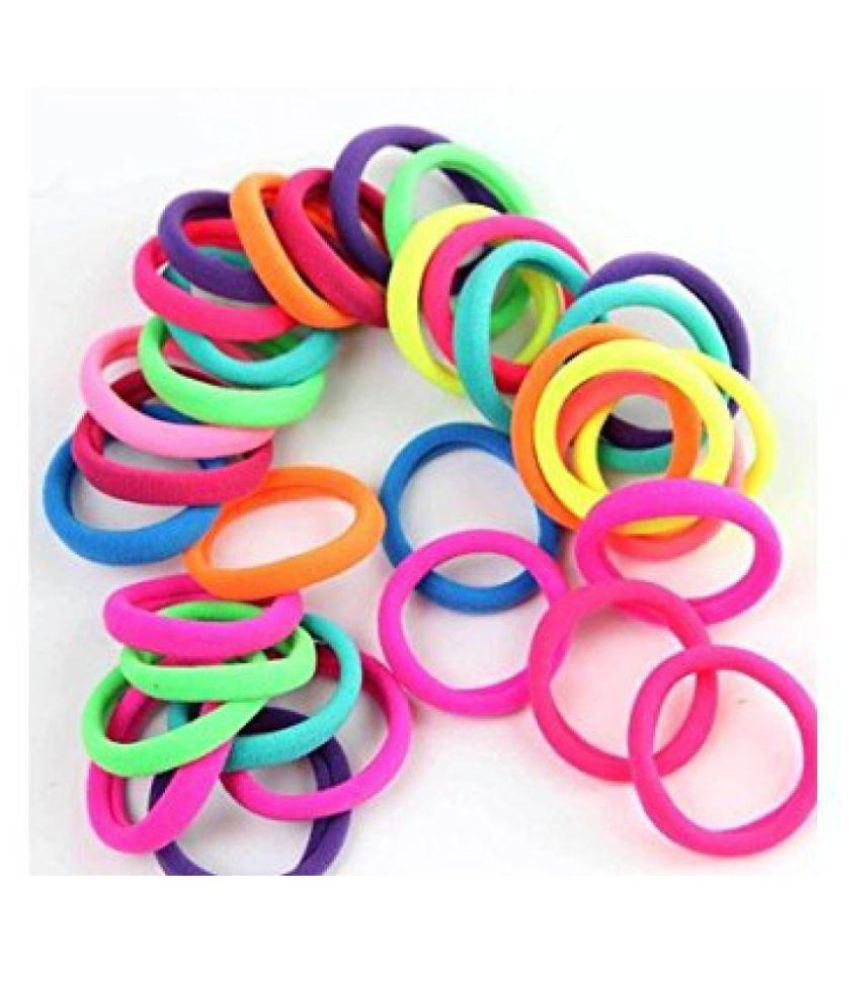 50 Pcs High Quality Multi Bright Colored Elastic Cotton Stretch Hair Band Ties Bands Headband Durable Ponytail