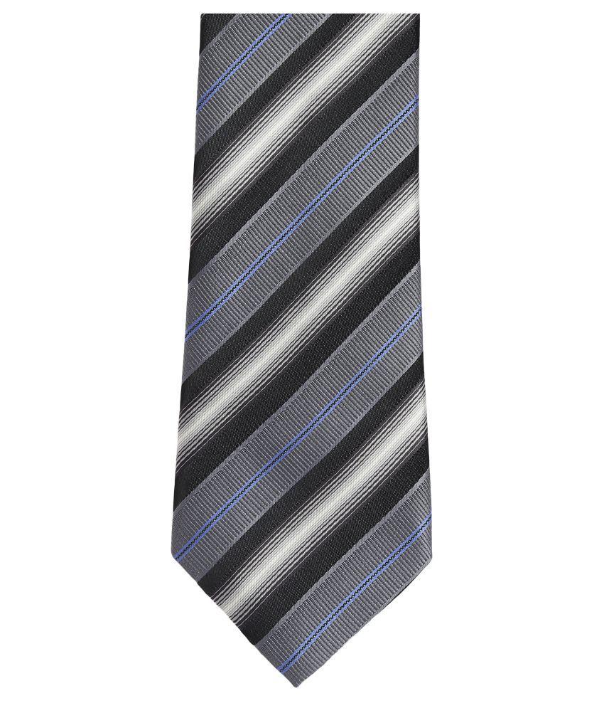 Alvaro Castagnino Gray Stripes Micro Fiber Necktie