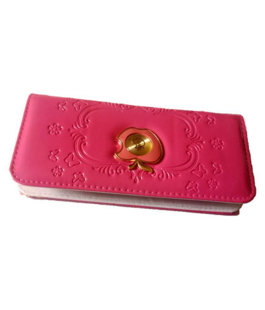 Unbranded* Pink Faux Leather Box Clutch