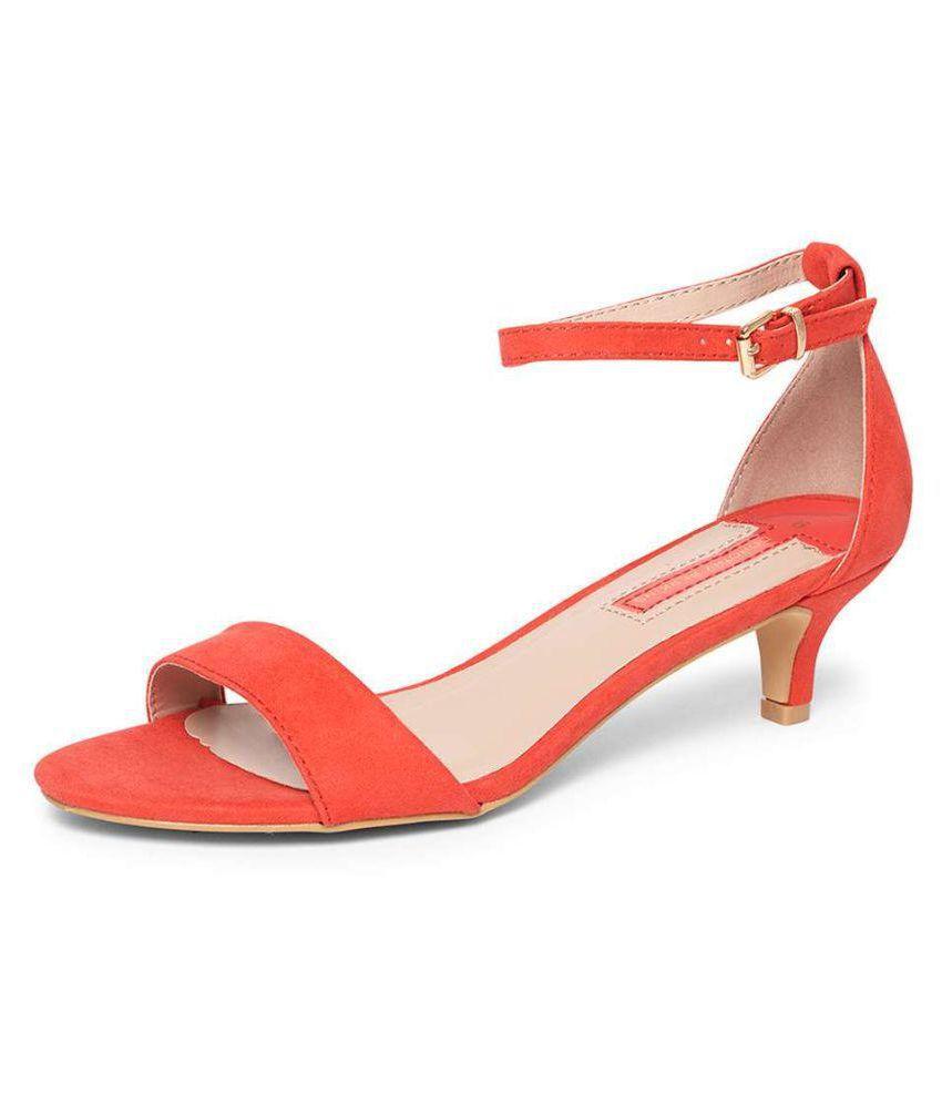 Dorothy Perkins Orange Kitten Heels