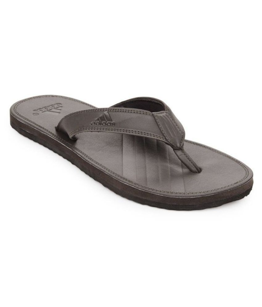 79e109292c22d3 Adidas Q17265 Brown Thong Flip Flop Price in India- Buy Adidas Q17265 Brown  Thong Flip Flop Online at Snapdeal