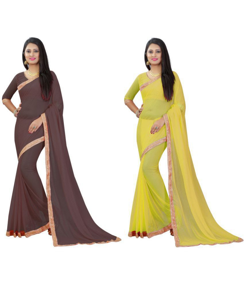 FIBREZA Multicoloured Matka Silk Saree Combos
