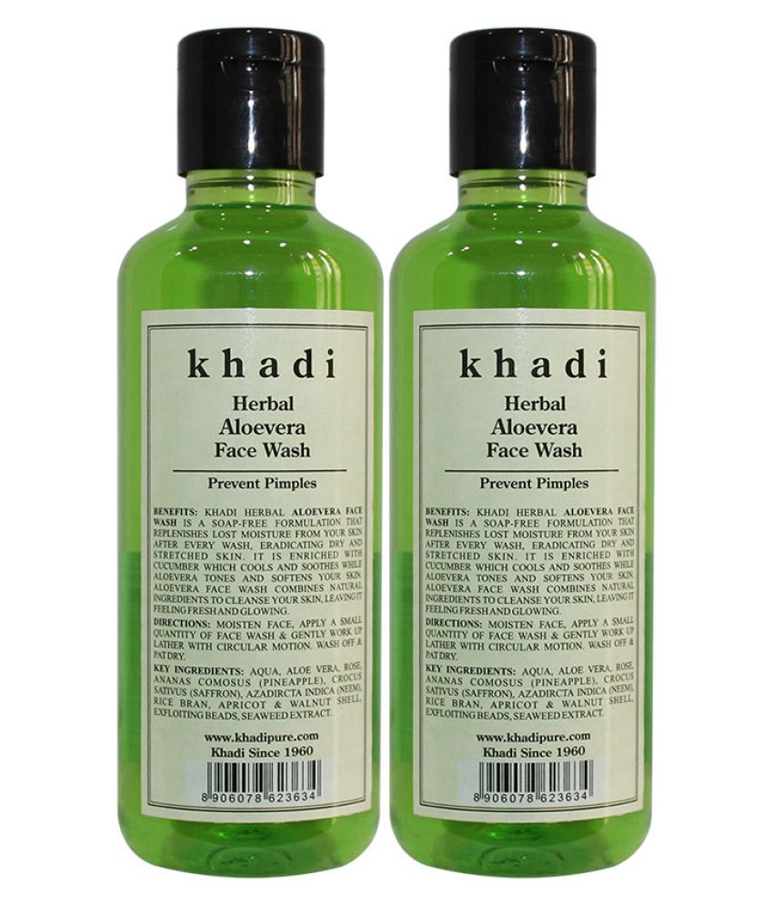 94935cc02fda Khadi Herbal Aloevera Face Wash 420 ml Pack of 2
