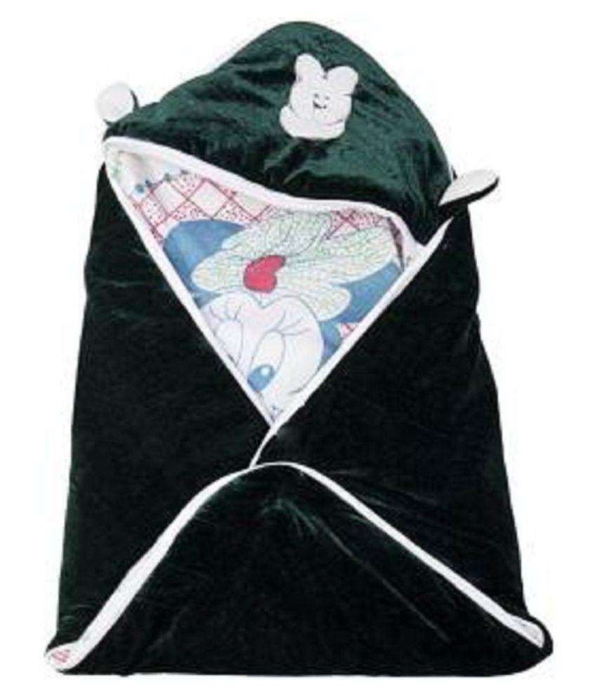kidsvision Multi-Colour Flannel Baby Wrap cum blanket ( 76 cm × 41 cm - 1 pcs)