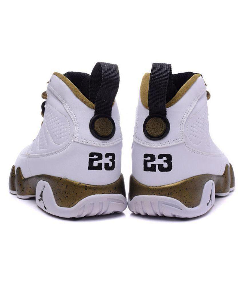 b9b3c24f8ba NIKE JORDAN Retro 9 White Basketball Shoes - Buy NIKE JORDAN Retro 9 ...