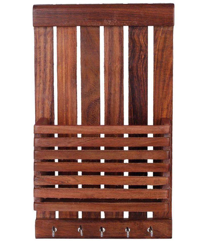 Woodykart Brown Wood Key Holder   Pack of 1