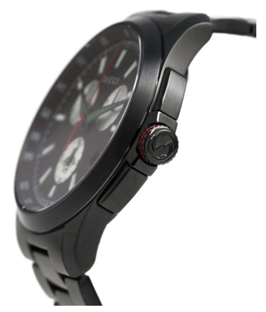 78b09a60d4e ... Gucci G-timeless Chronograph XL Black Dial stainless steel Men s Watch  YA126268 ...