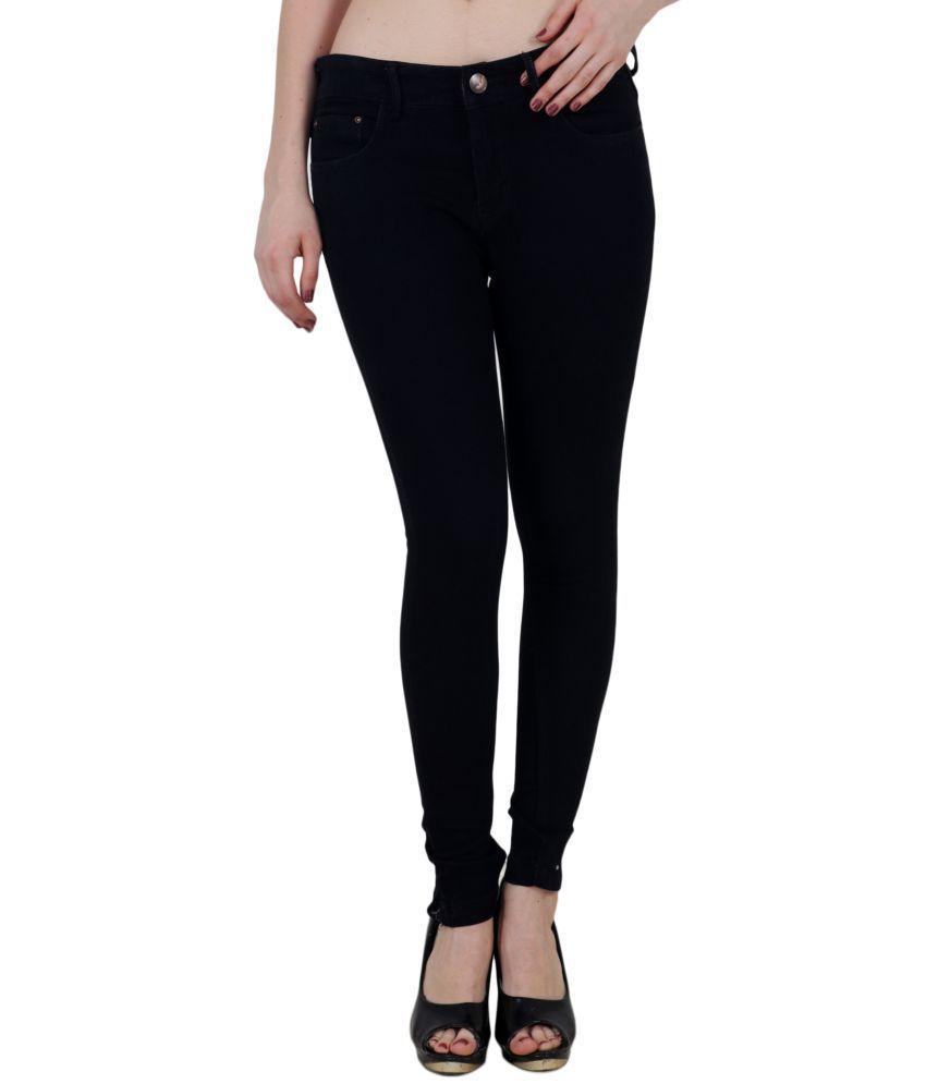 King Size Cotton Jeans - Black